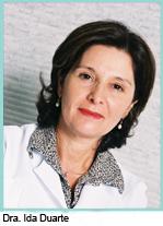 Dra. Ida Duarte, professora da Faculdade de Ciências Médicas da Santa Casa de São Paulo