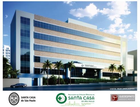 Fachada do Projeto do Novo Prédio da Faculdade Santa Casa de SP