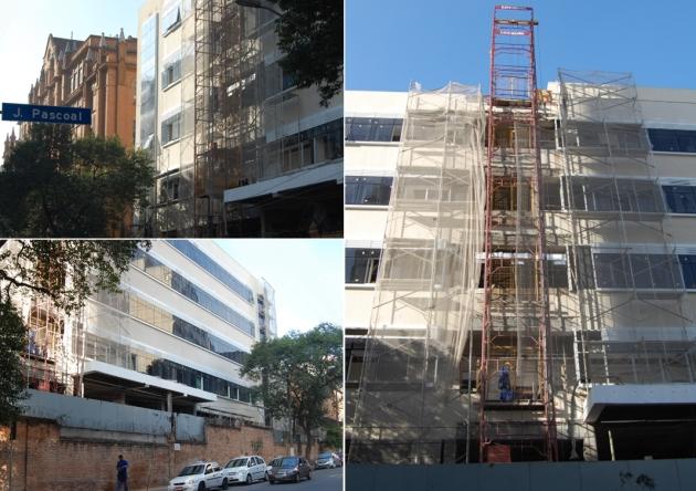 Obras em andamento - Novo Prédio da Faculdade Santa Casa de SP