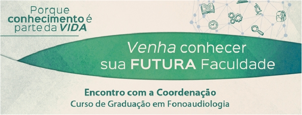 Convite Fonoaudiologia Faculdade Santa Casa de SP