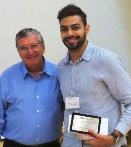 Antonio Augusto Brant de Carvalho, assessor da Presidência da Fundação Arnaldo Vieira de Carvalho, mantenedora da FCMSCSP, e o segundo colocado Denis Tadeu Gomes Cavalcante.
