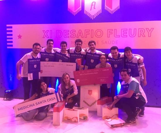 Campeões do Desafio Fleury 2015: 1º lugar é conquistado pelos estudantes de Medicina da FCMSCSP