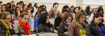 Alunos durante a 13ª Jornada de Fonoaudiologia da FCMSCSP